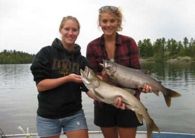 Canadian Girls with Ontario Lake trout at Manitou