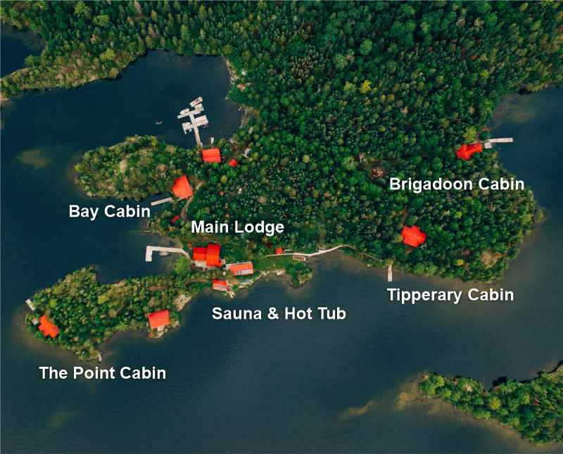Manitou Weather Station Aerial Overview of Cabins