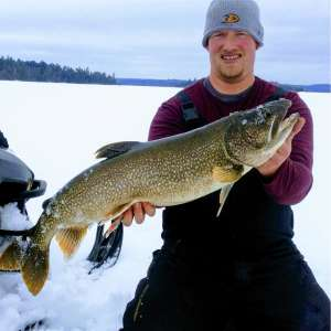 Ice Fishing Lake Trout on the Manitou